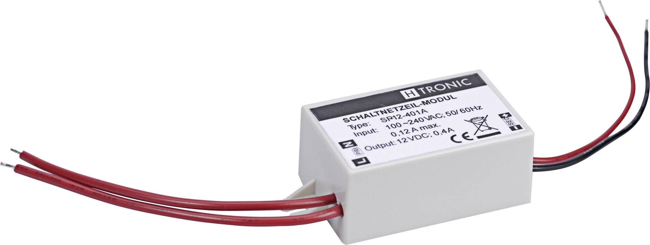 AC/DC zdroj do DPS H-Tronic SP-12-401 A, 12 V/DC, 0.4 A, 4.8 W