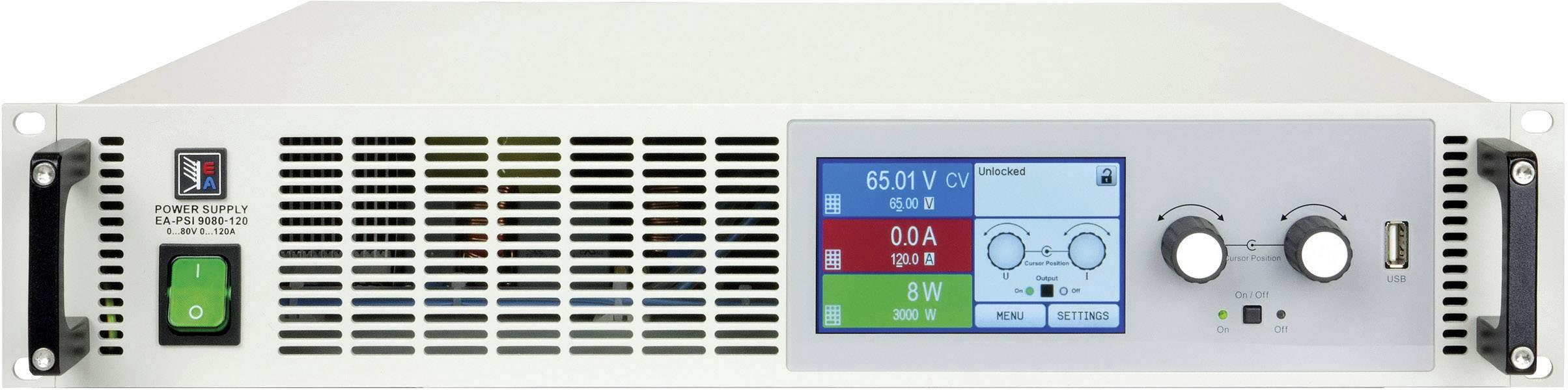 Programovateľný laboratórny zdroj EA EA-PSI 9080-120, 2U, 80 V, 120 A, 3000 W, USB