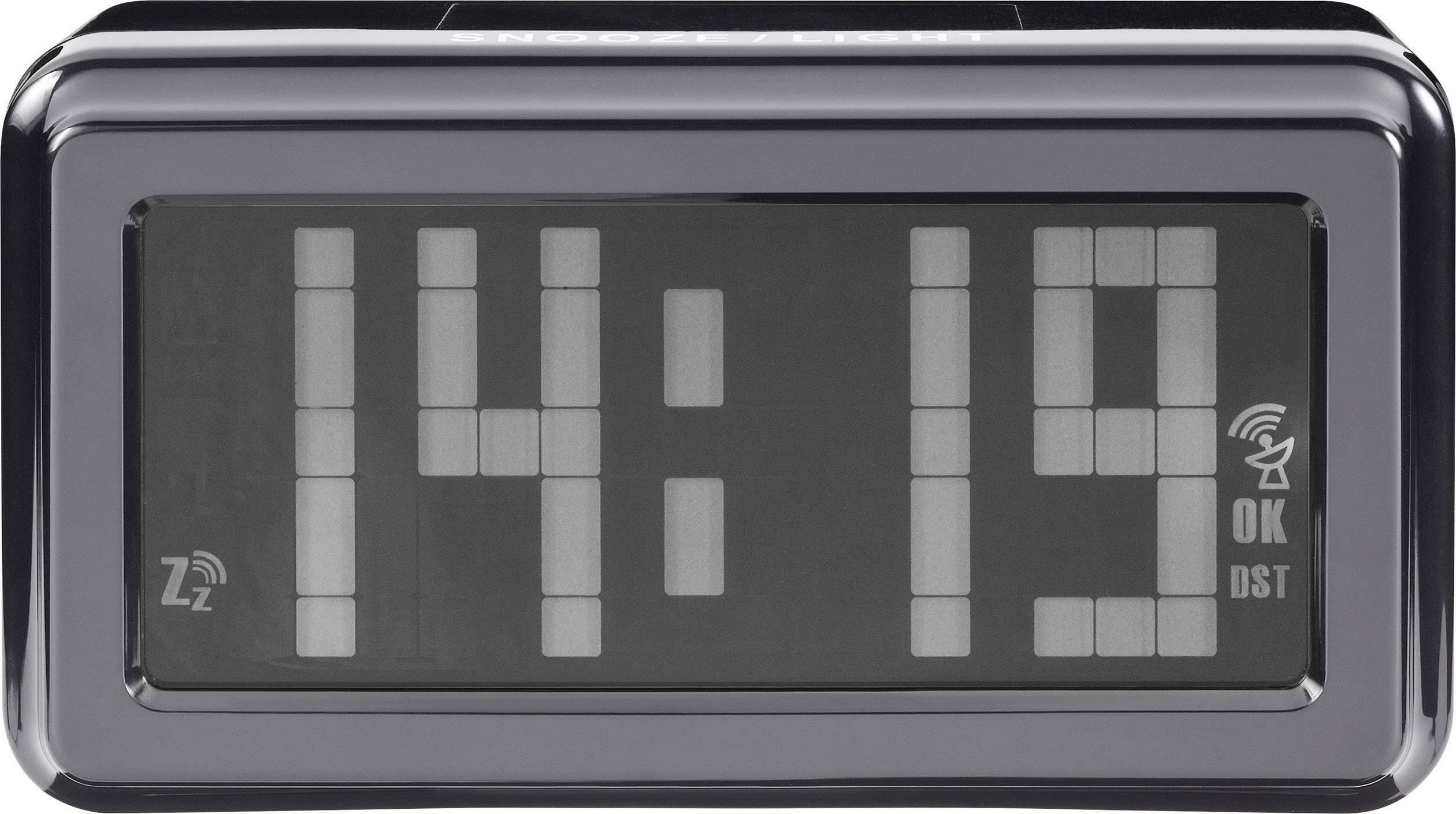 DCF budík Renkforce Radio budilica s matričnim ekranom 39AE, časov budenia 1, čierna, antracitová