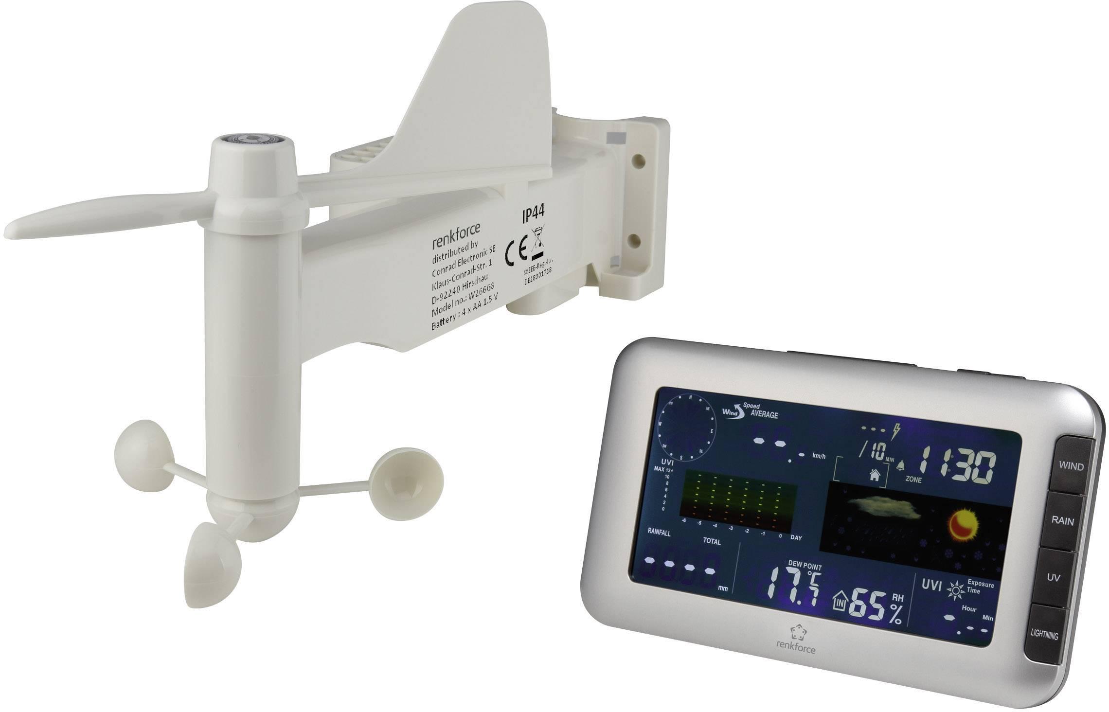 Digitální bezdrátová meteostanice Renkforce Max. dosah 100 m