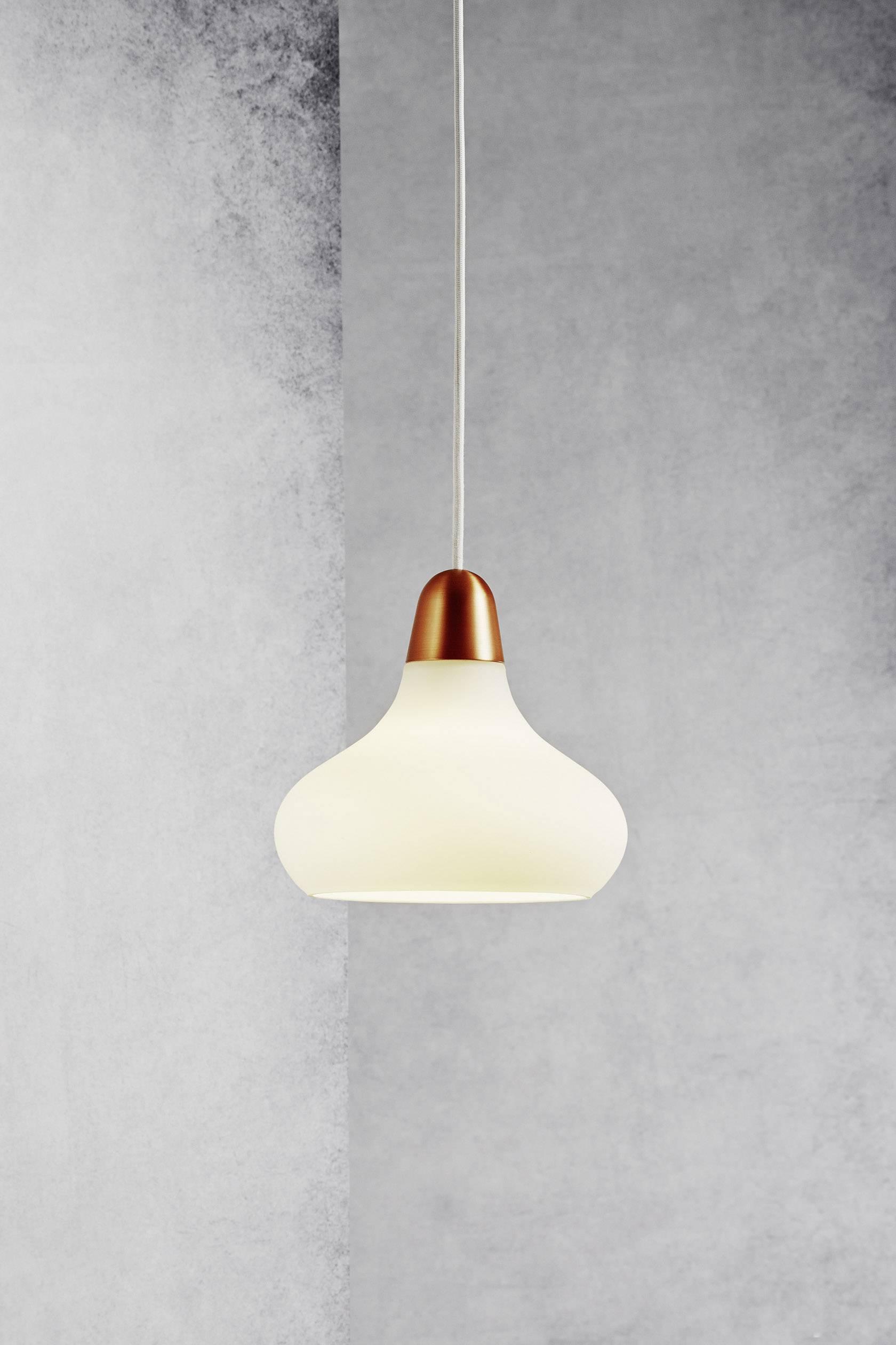 Závesné svietidlo halogénová žiarovka Nordlux Bloom 17 78173030, E27, 40 W, meď, biela