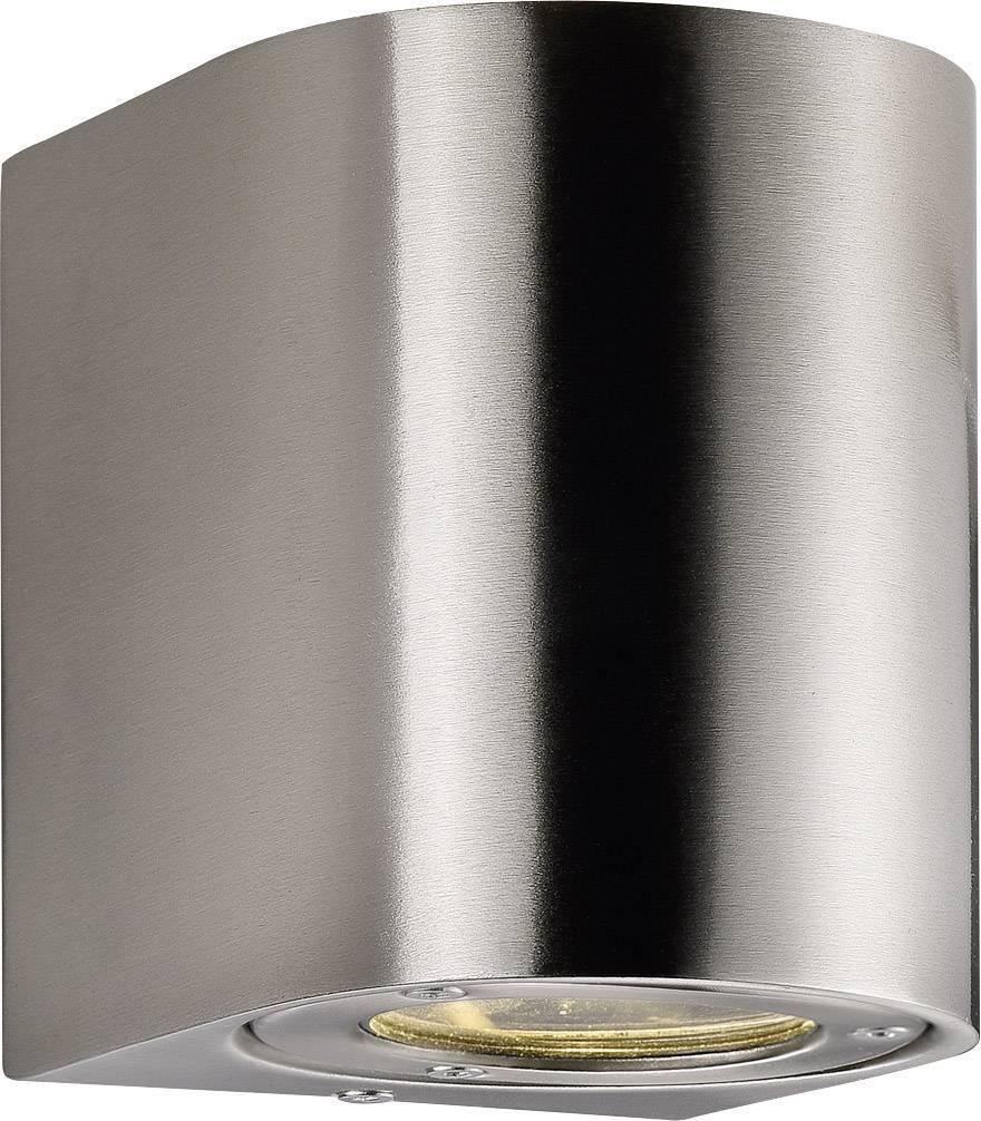 LEDvonkajšie nástennéosvetlenie 10 W teplá biela Nordlux Canto 77571034 nerezová oceľ
