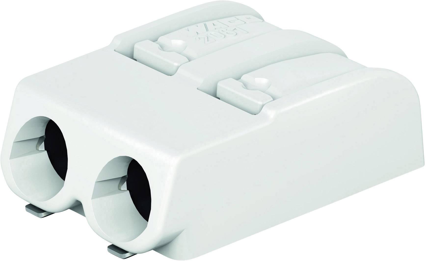 Svorkovnice pro desku plošných spojů 2 WAGO 2061-602/998-404, AWG 20-16, 6 mm, 12 A, bílá