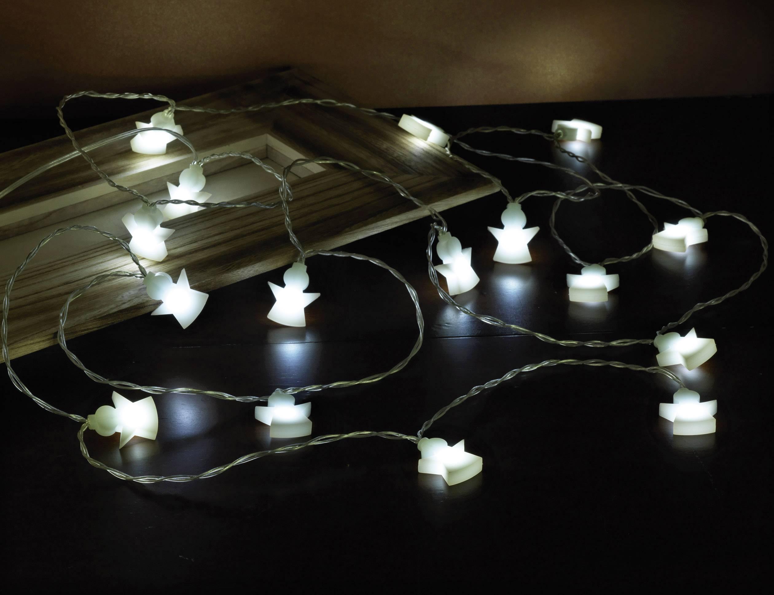 Vnútorná svetelná reťaz Polarlite LBA-04-002, 16 LED, 3.5 m, na batérie, anjelik