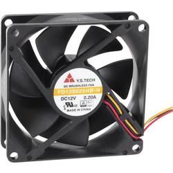 Axiální ventilátor FD128025HB-N(2F7) FD128025HB-N(2F7), 12 V/DC, 33 dB, (d x š x v) 80 x 80 x 25 mm