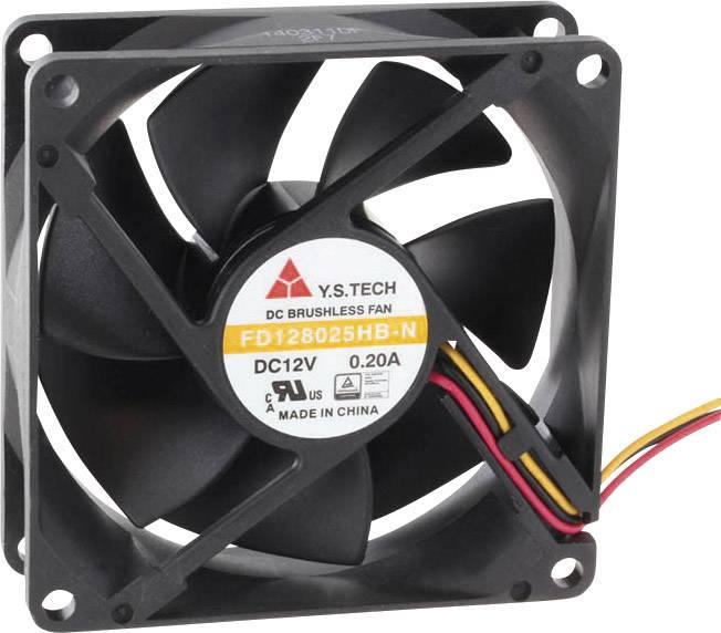 Axiálny ventilátor FD128025HB-N(2F7) FD128025HB-N(2F7), 12 V/DC, 33 dB, (d x š x v) 80 x 80 x 25 mm