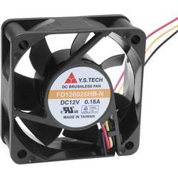 Axiální ventilátor FD126025HB-N(2A7) FD126025HB-N(2A7), 12 V/DC, 36 dB, (d x š x v) 60 x 60 x 25 mm