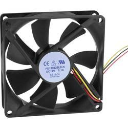 Axiální ventilátor FD129225LS-N(1A3K) FD129225LS-N(1A3K), 12 V/DC, 25 dB, (d x š x v) 92 x 92 x 25 mm