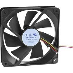 Axiální ventilátor KM121225LS(1A1) KM121225LS(1A1), 12 V/DC, 18 dB, (d x š x v) 120 x 120 x 25 mm