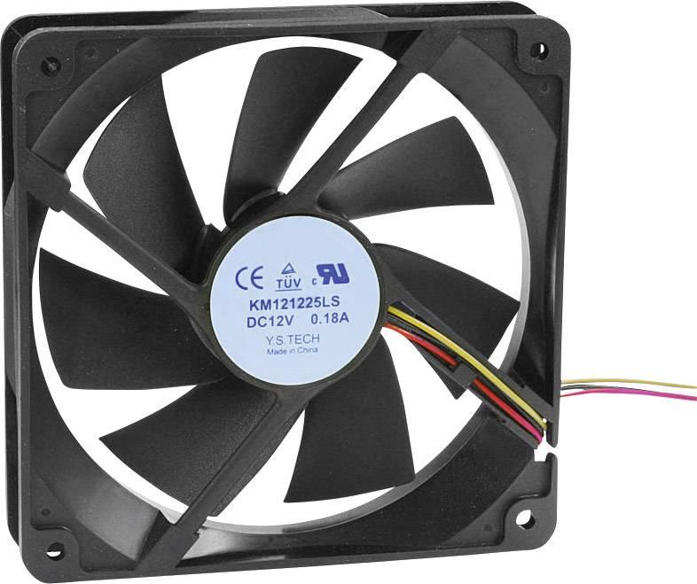 Axiálny ventilátor KM121225LS(1A1) KM121225LS(1A1), 12 V/DC, 18 dB, (d x š x v) 120 x 120 x 25 mm