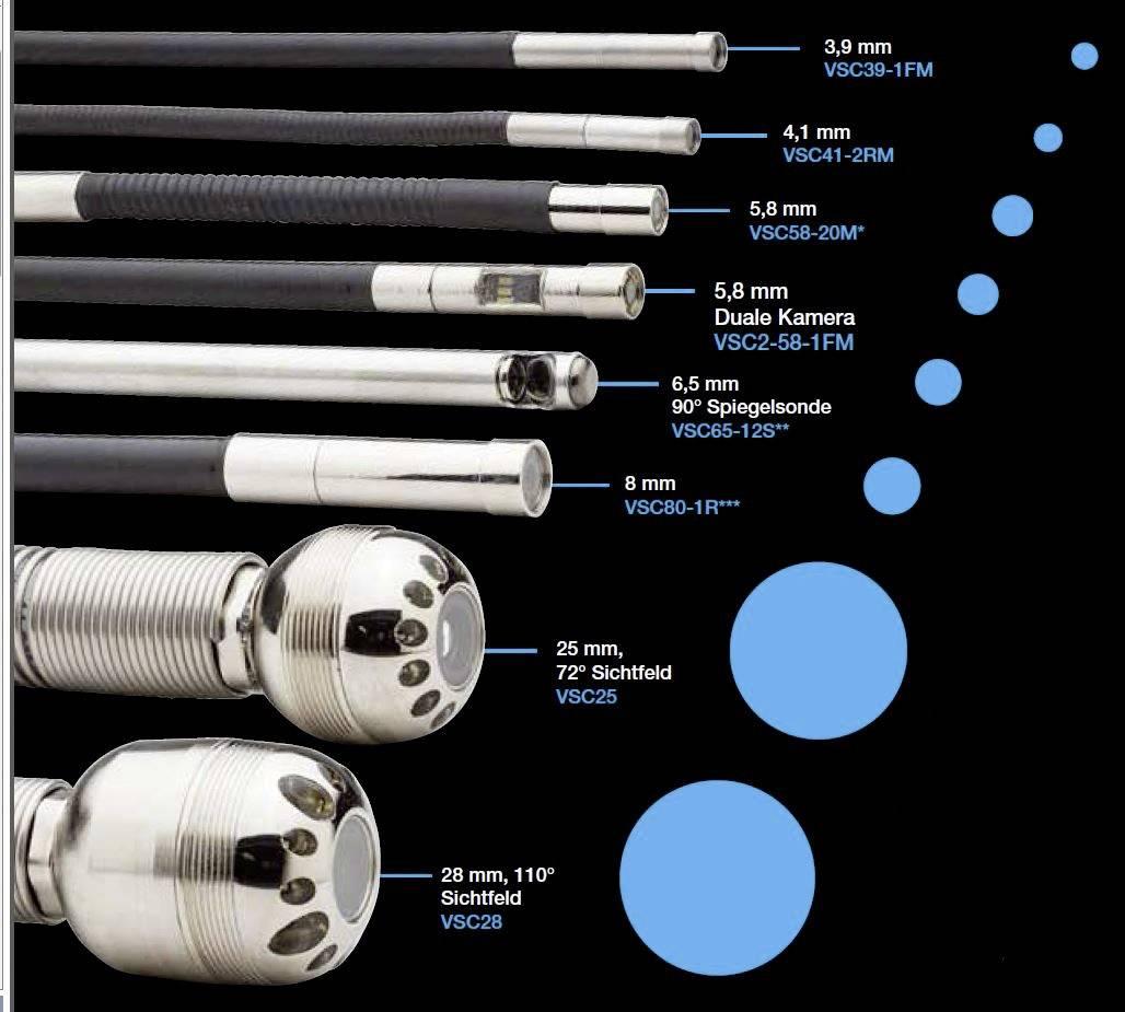 Endoskopická kamera FLIR VSC39-1FM, Ø 3,9 mm, dĺžka 100 cm