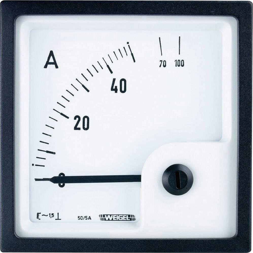 Panelové elektromagnetické meradlo Weigel EQ72K 50/5 A