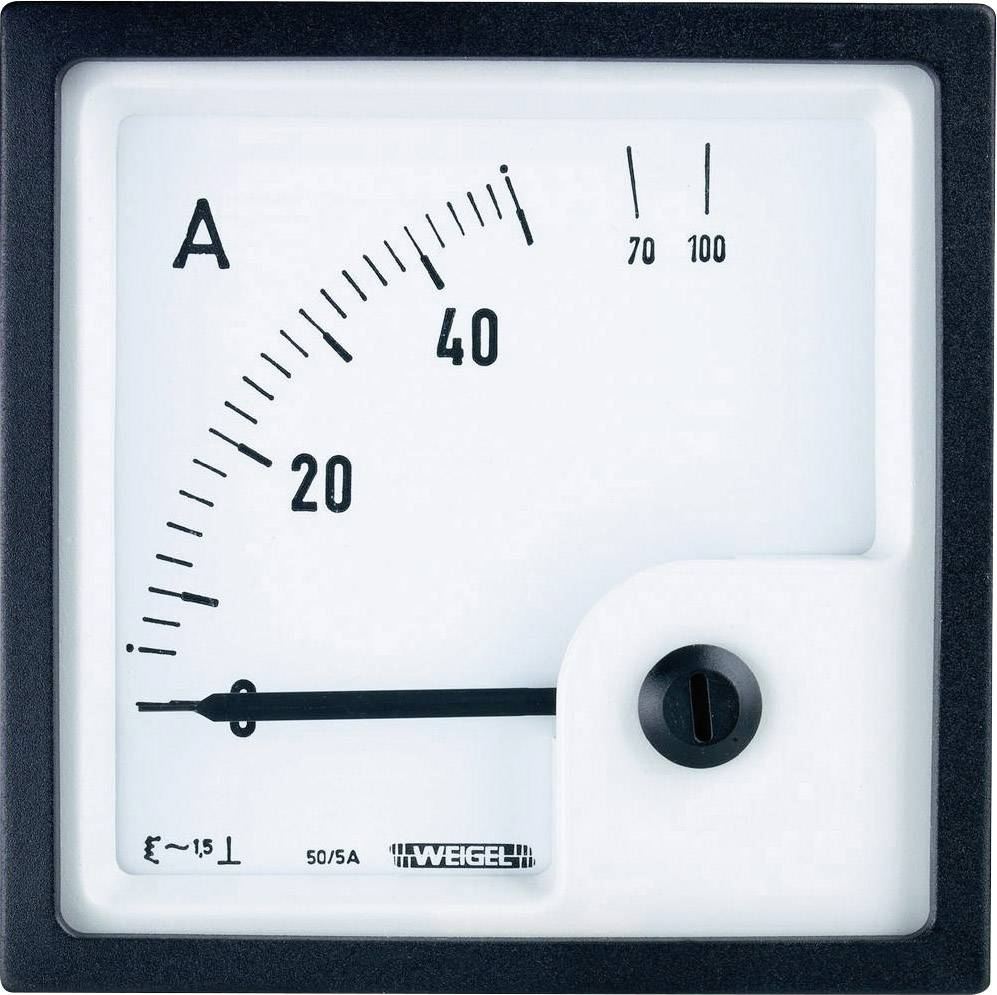 Panelové elektromagnetické meradlo Weigel EQ72K 600/5 A