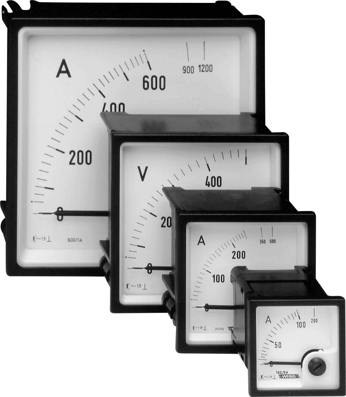 Analogové panelové měřidlo Weigel EQ72K 10/20A 10/20 A/AC