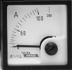 Panelové elektromagnetické meradlo Weigel EQ72K 150/5 A