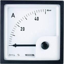 Panelové magnetoelektrické meradlo Weigel PQ72K 50 A/60 mV