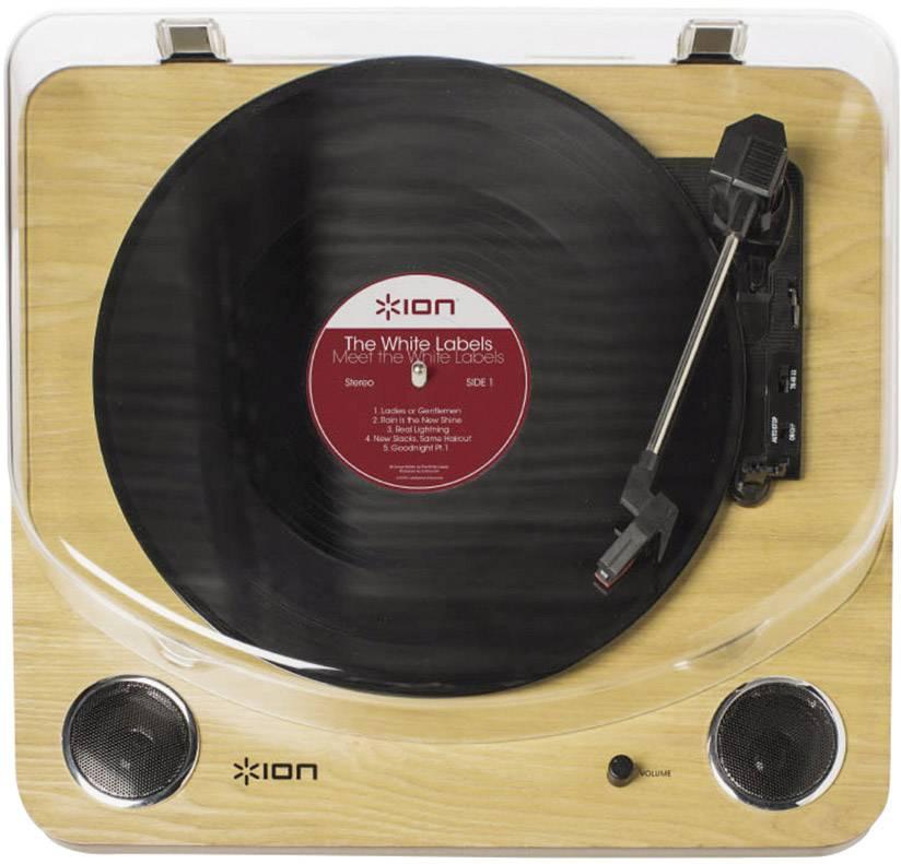 USB gramofon ION Audio Max LP, řemínkový pohon, dřevo