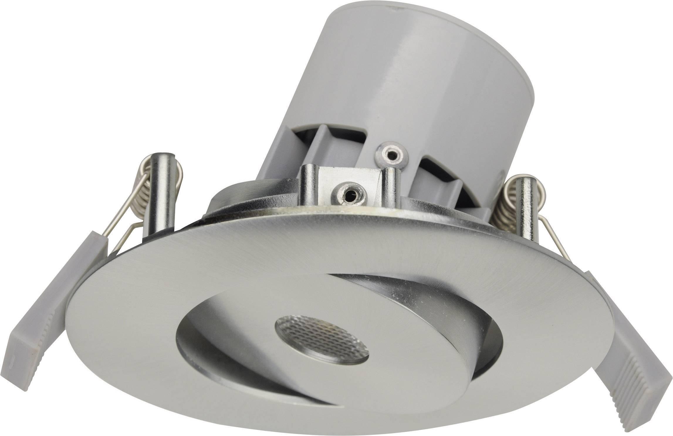 LED vstavané svetlo JEDI Lighting Integra JE12617, 7 W, teplá biela, hliník (kartáčovaný)