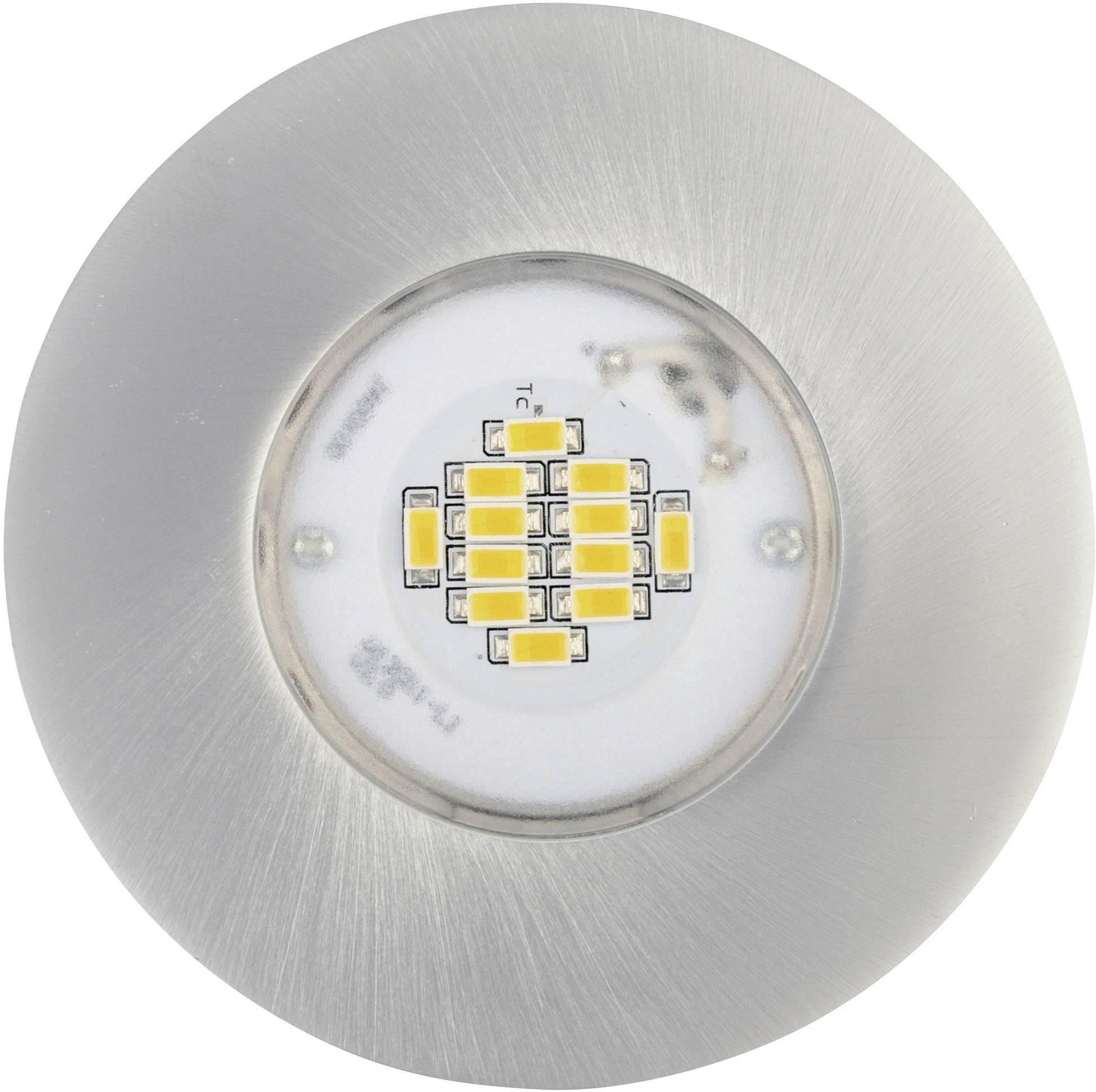LED vstavané svetlo JEDI Lighting Integra JE12417, 6.5 W, RGB, hliník (kartáčovaný)