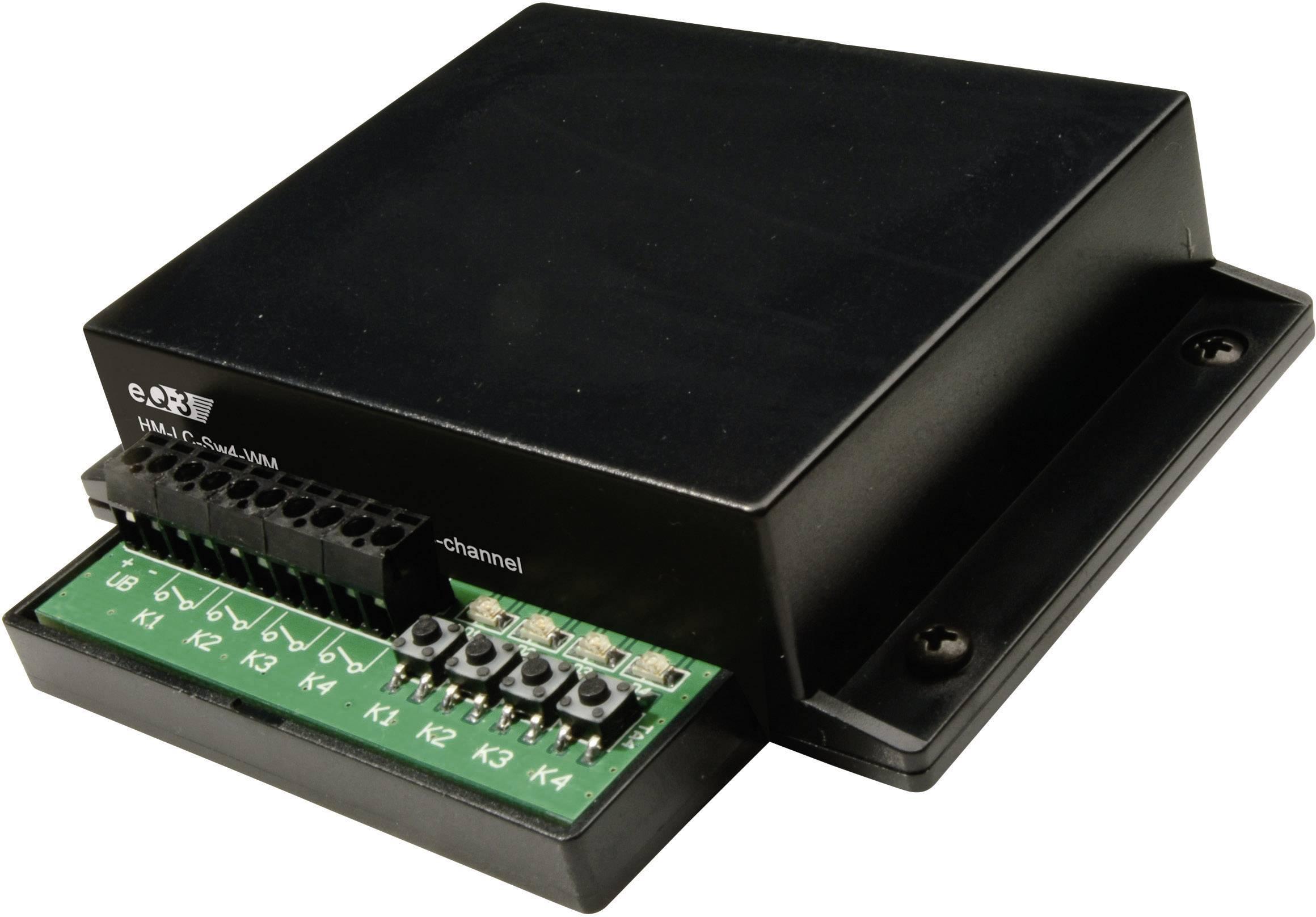 HomeMatic bezdrôtový spínač 99082, 4-kanálová Max. dosah 300 m