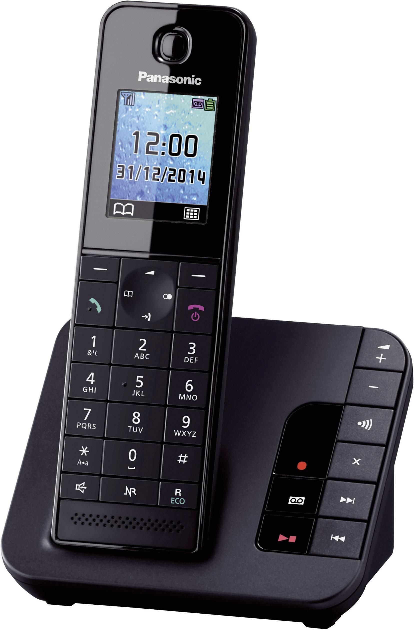 Bezdrátový analogový telefon Panasonic KX-TGH220, černá