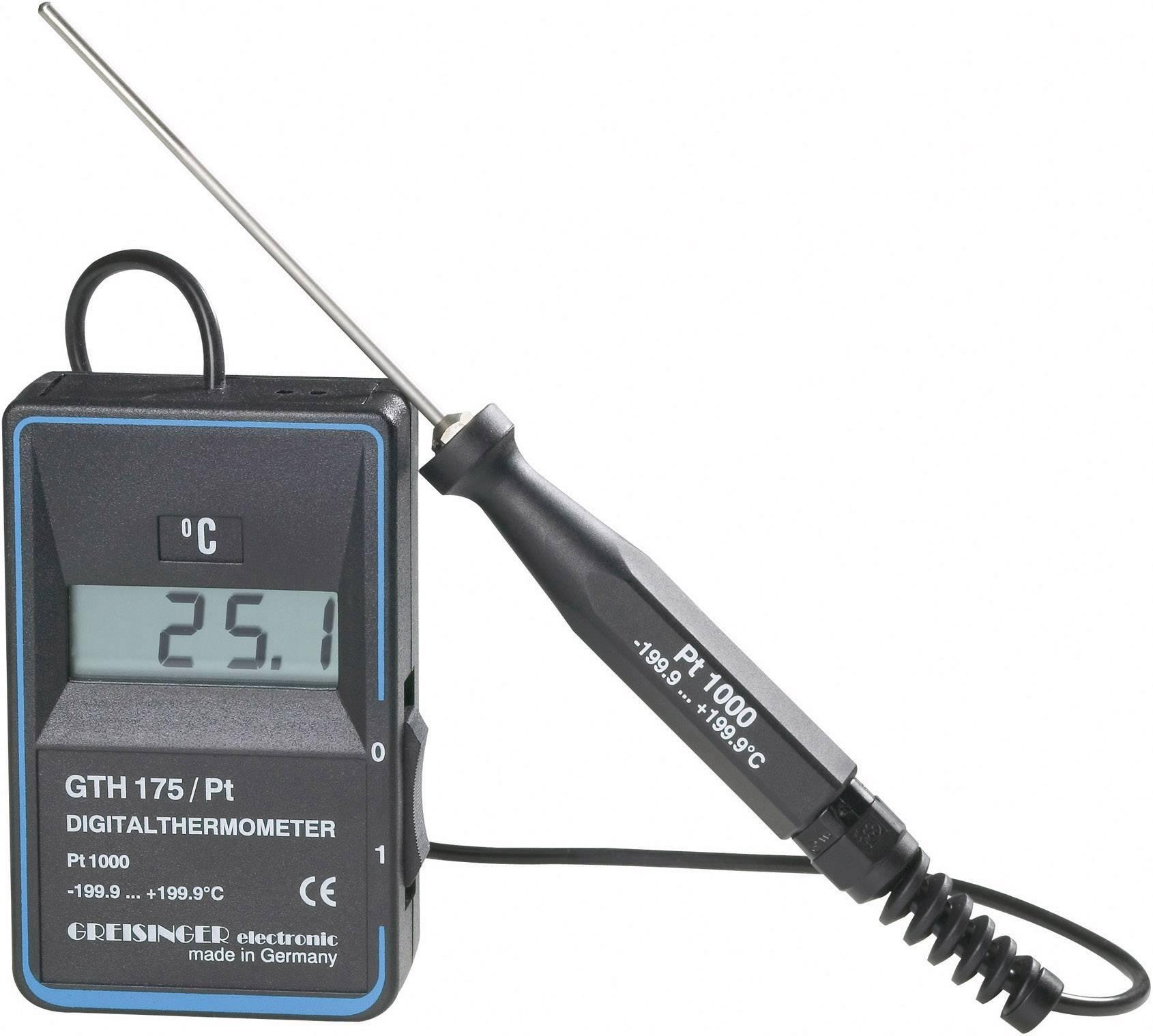 Vpichovací teploměr Greisinger GTH175/PT, -199,9 až +199,9 °C, 100390