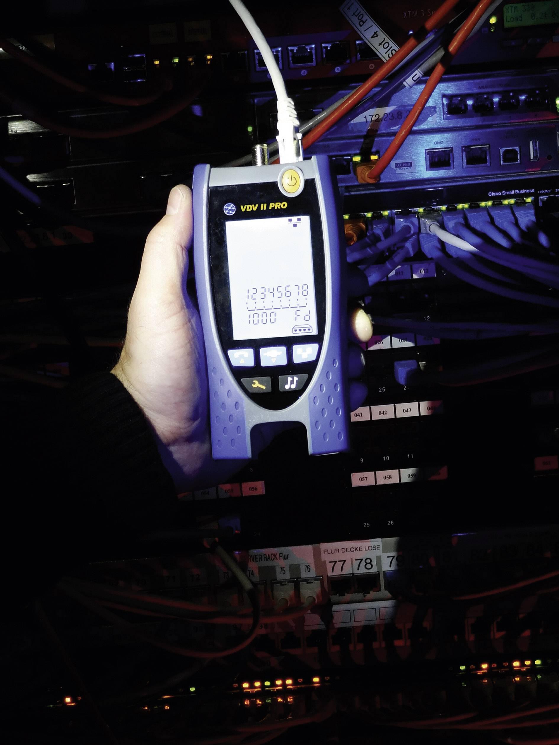 Tester inštalácie dátových, zvukových a video káblov IDEAL Networks VDV II PRO, R158003