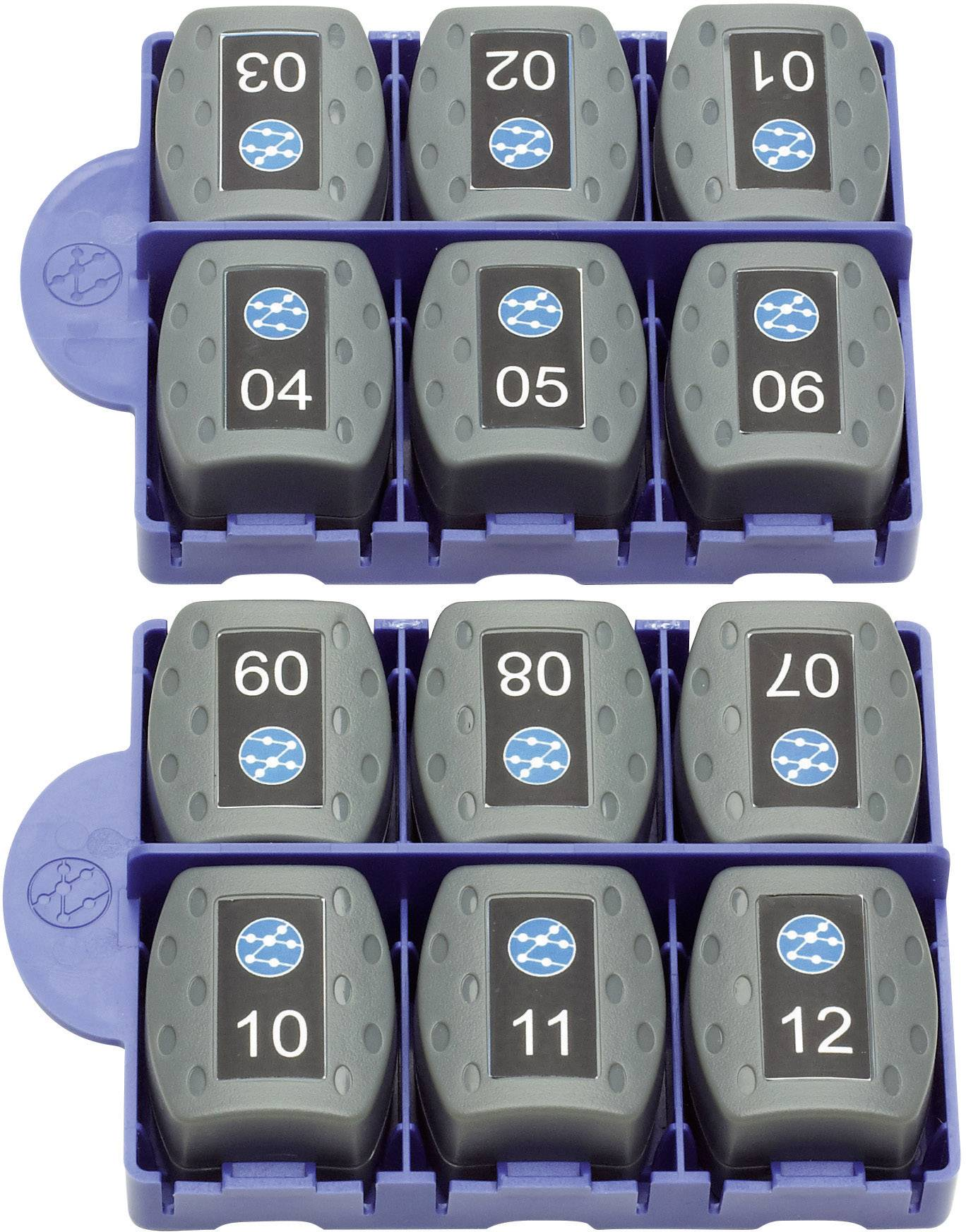 Sada 12 remote adaptérů RJ45 IDEAL Networks VDV II, 158050