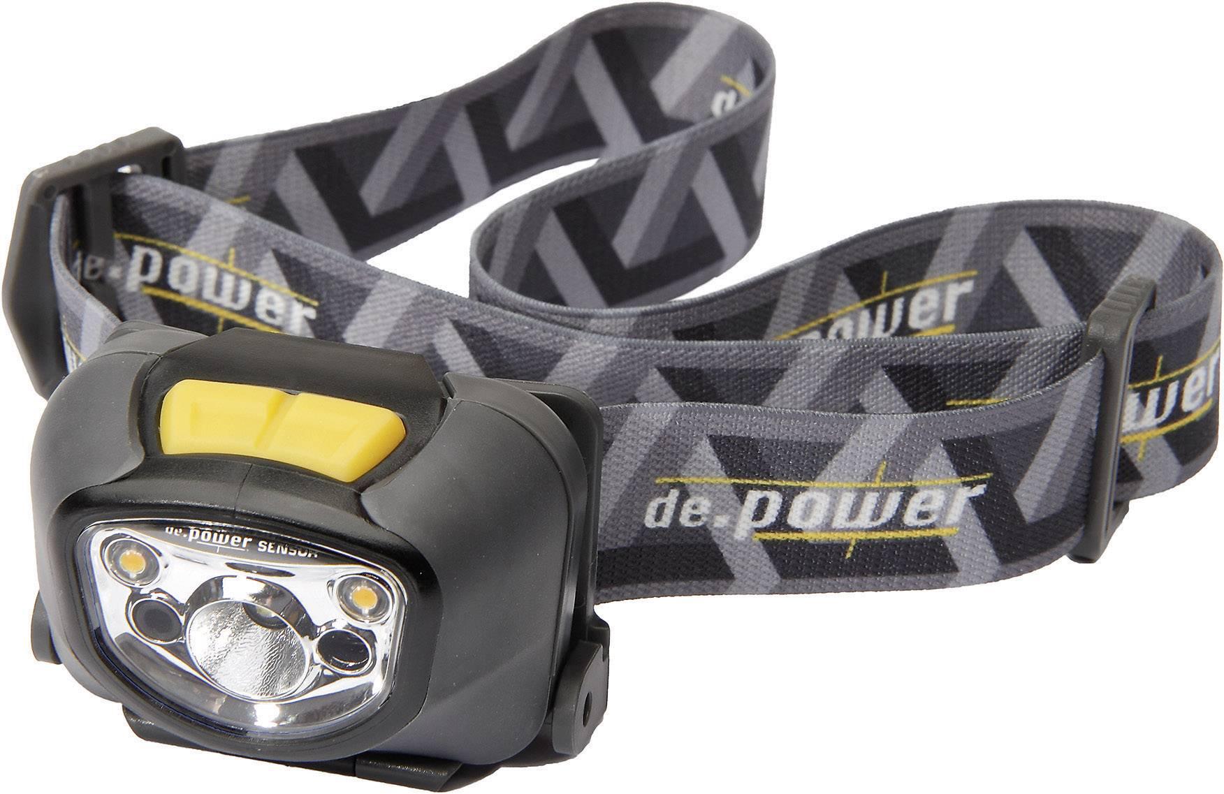 LED čelovka de.power by litexpress DP-802 DP-802AA, na batérie, 95 g, čiernosivá