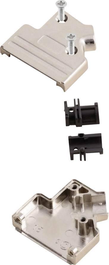 D-SUB púzdro MH Connectors MHDVSL09-K 6560-0206-31, Počet pinov: 9, kov, 45 °, strieborná, 1 ks