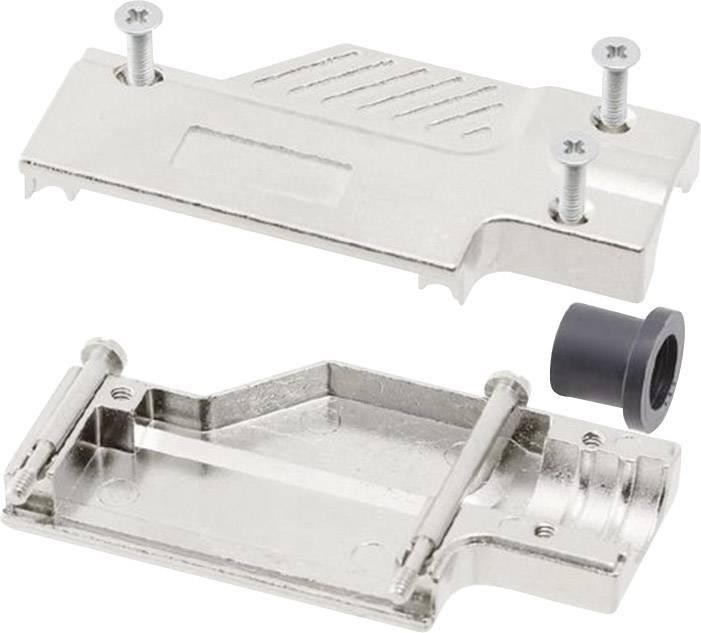 D-SUB pouzdro MH Connectors MHDCMR09-ULP, Pólů: 9, kov, 90 °, stříbrná, 1 ks