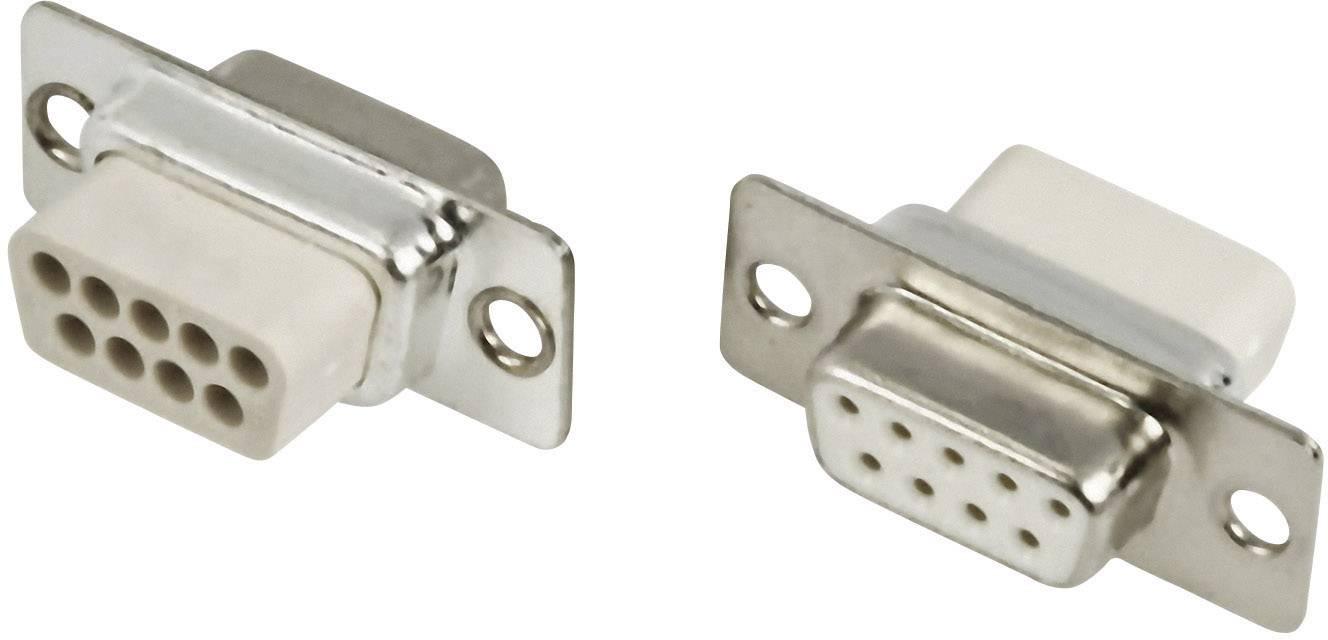 D-SUB zásuvková lišta MH Connectors MHDBC09SS-NW, 180 °, Počet pinov 9, krimpované , 1 ks