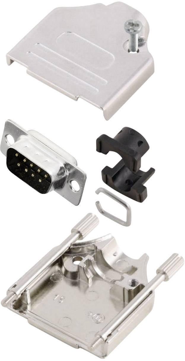 Sada D-SUB kolíkové lišty MH Connectors MHDTZK9-DB9P-K, 180 °, pólů 9, pájecí kalíšek, 1 ks