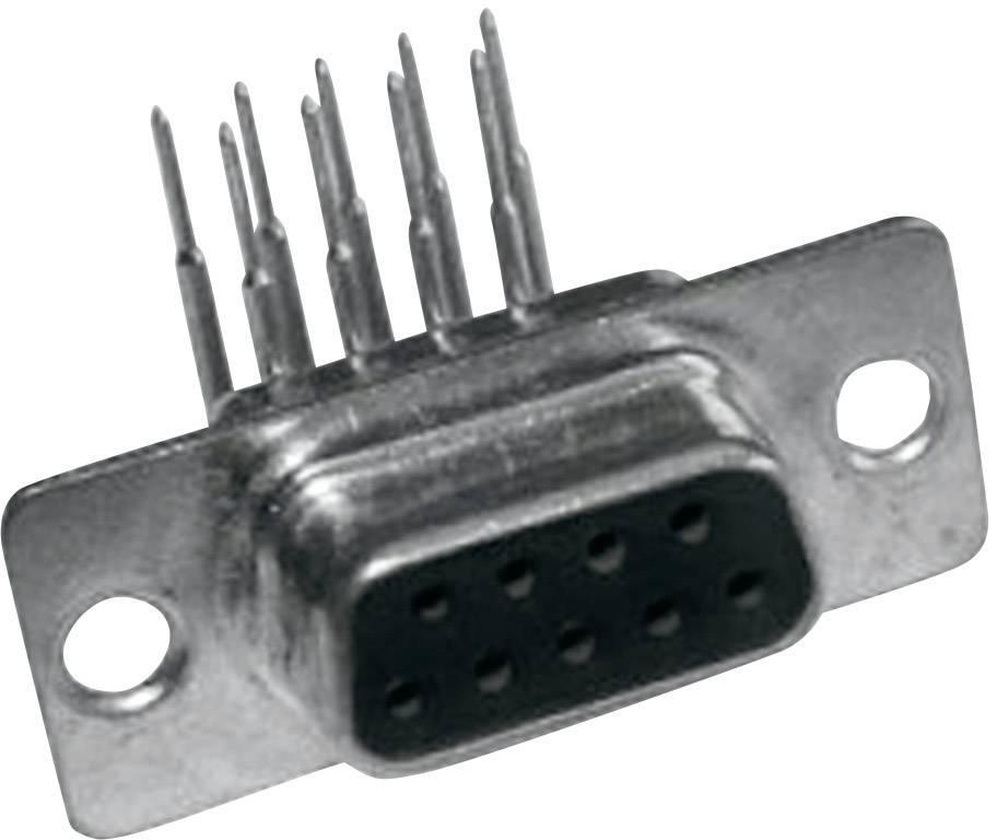 D-SUB zásuvková lišta MH Connectors MHDD9-F-T-B-M-RBM, 90 °, počet pinov 9, 1 ks