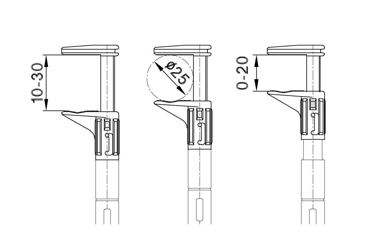 Meracia svorka Multicontact Grip-F, červená