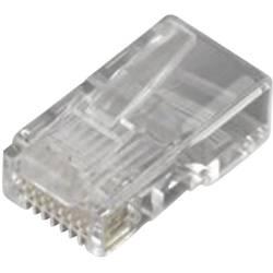 Zástrčka, rovná MH Connectors 6510-0104-01, RJ45 MHRJ458P8CR, počet pólů: 8P8C, transparentní, 1 ks