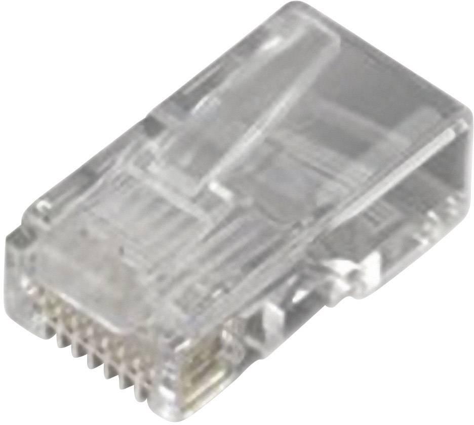Zástrčka, rovná RJ45 MH Connectors MHRJ458P8CR, transparentní, 1 ks