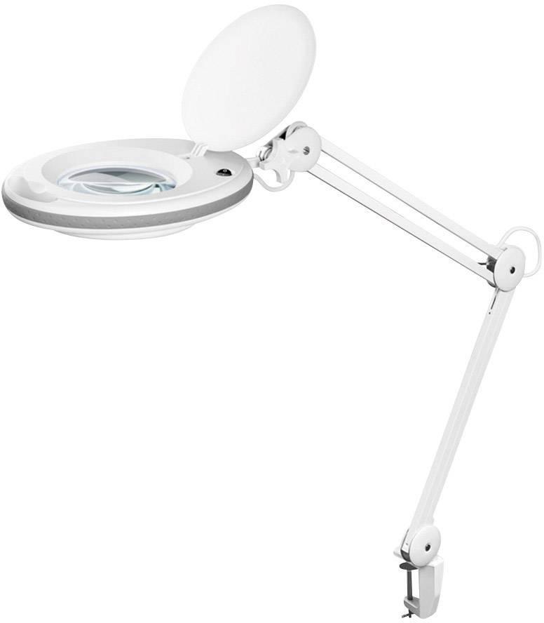 Lupa s LED osvetlením a stolovou svorkou FixPoint 45271, Ø lupy: 125 mm, prac.rádius 90 cm
