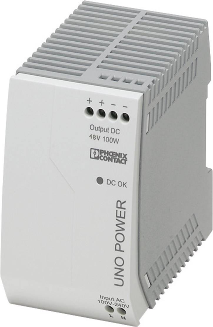Síťový zdroj na DIN lištu Phoenix Contact UNO-PS/1AC/48DC/100W, 1 x, 48 V/DC, 2.1 A, 100 W