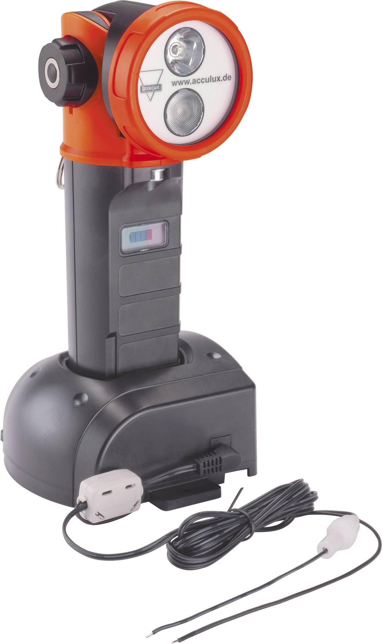Akumulátorový ruční LED reflektor s otočnou hlavou AccuLux HL25 EX, 458581, IP67