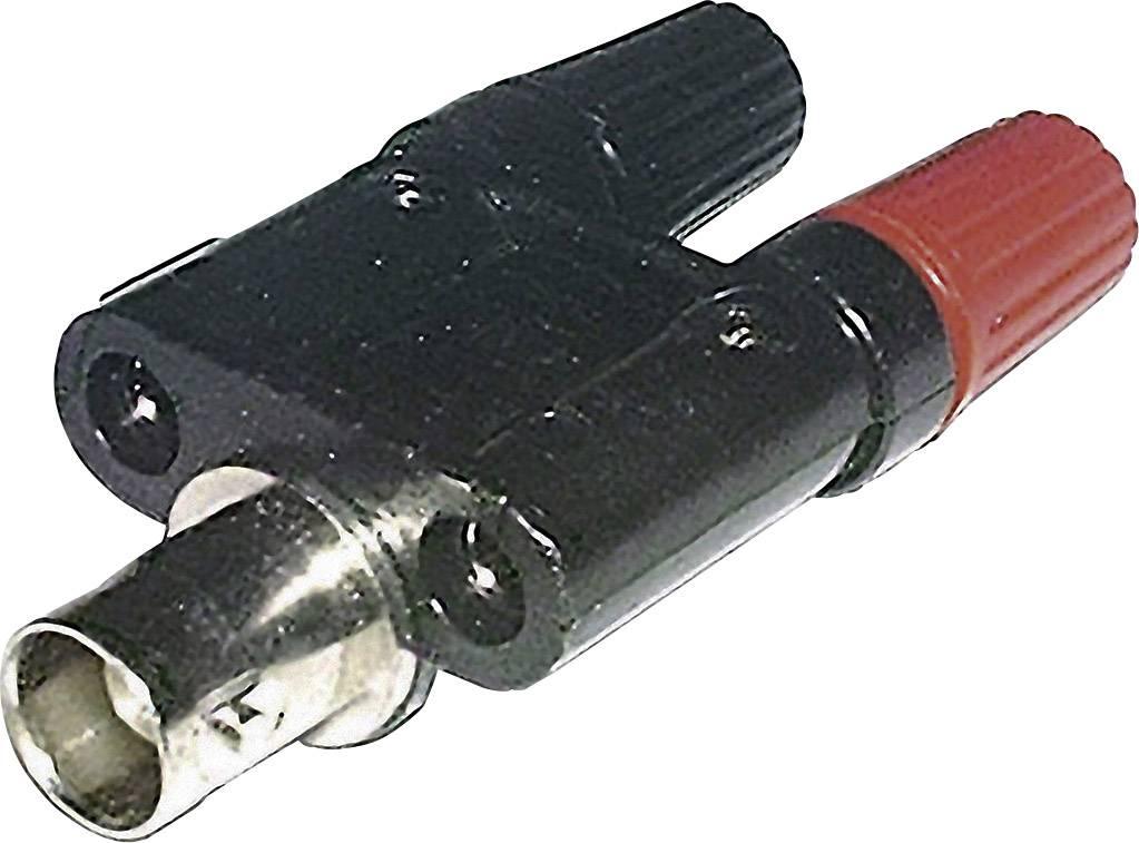 Adaptér BNC zásuvka ⇔ zásuvka 4 mm, černá/červená
