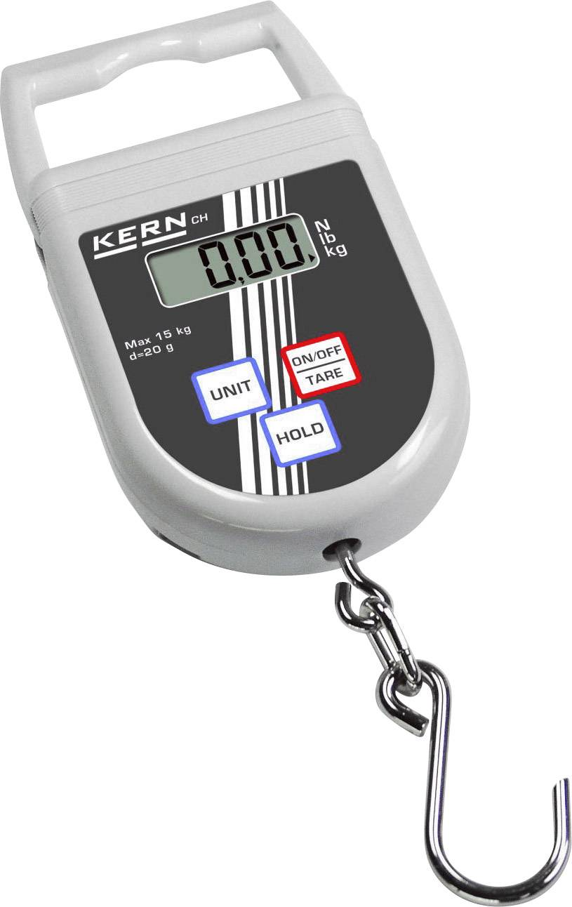 Závesná váha Kern max.váživosť 15 kg, presnosť 20 g