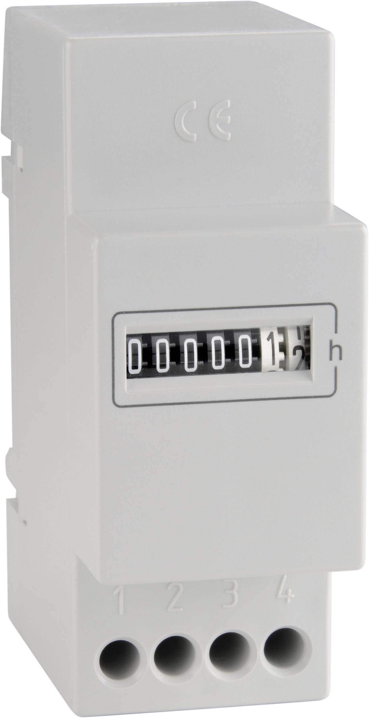 Počítadlo prevádzkových hodín Bauser 661.6, 230 V/AC