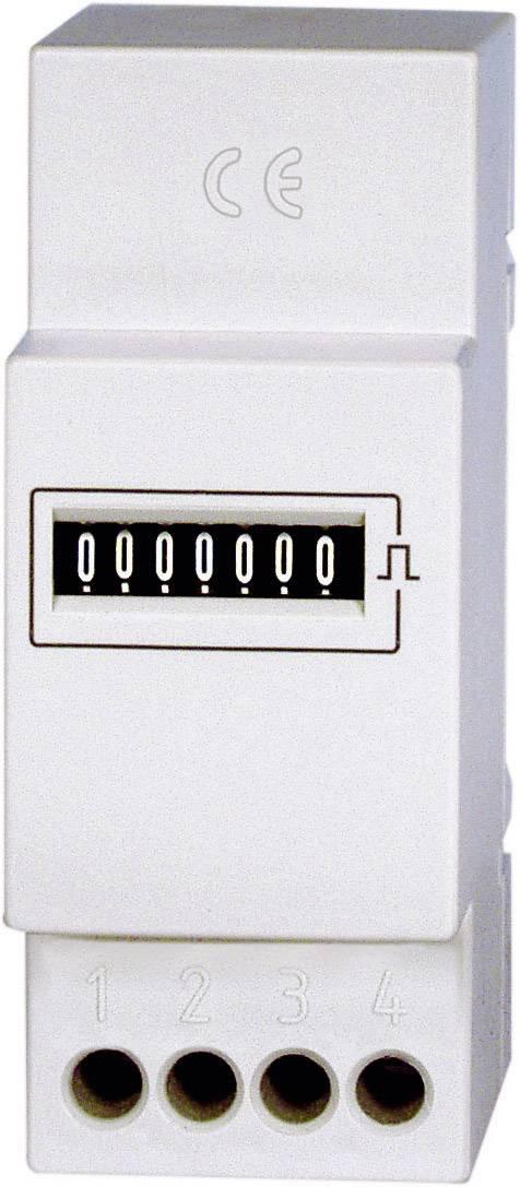 Čítač impulzov na DIN lištu Bauser 663.6/08, 230 V/50 Hz, 36 x 24 mm