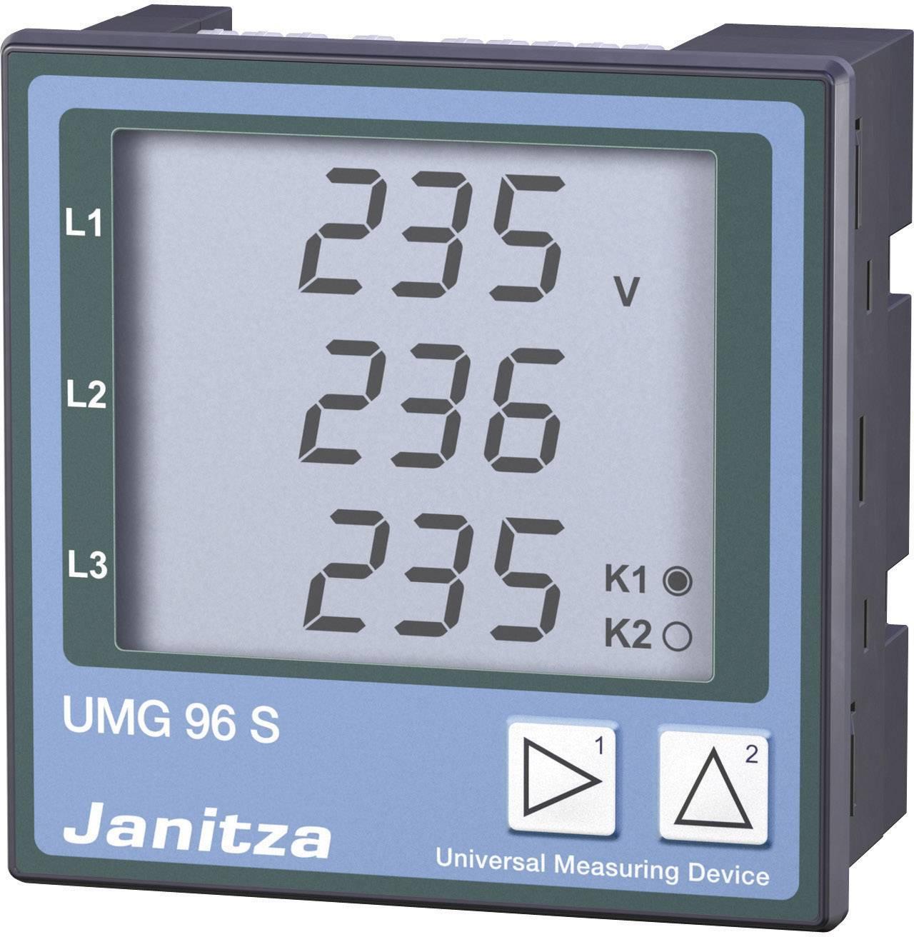 Zabudovateľný merací prístroj Modbus Janitza UMG 96 S