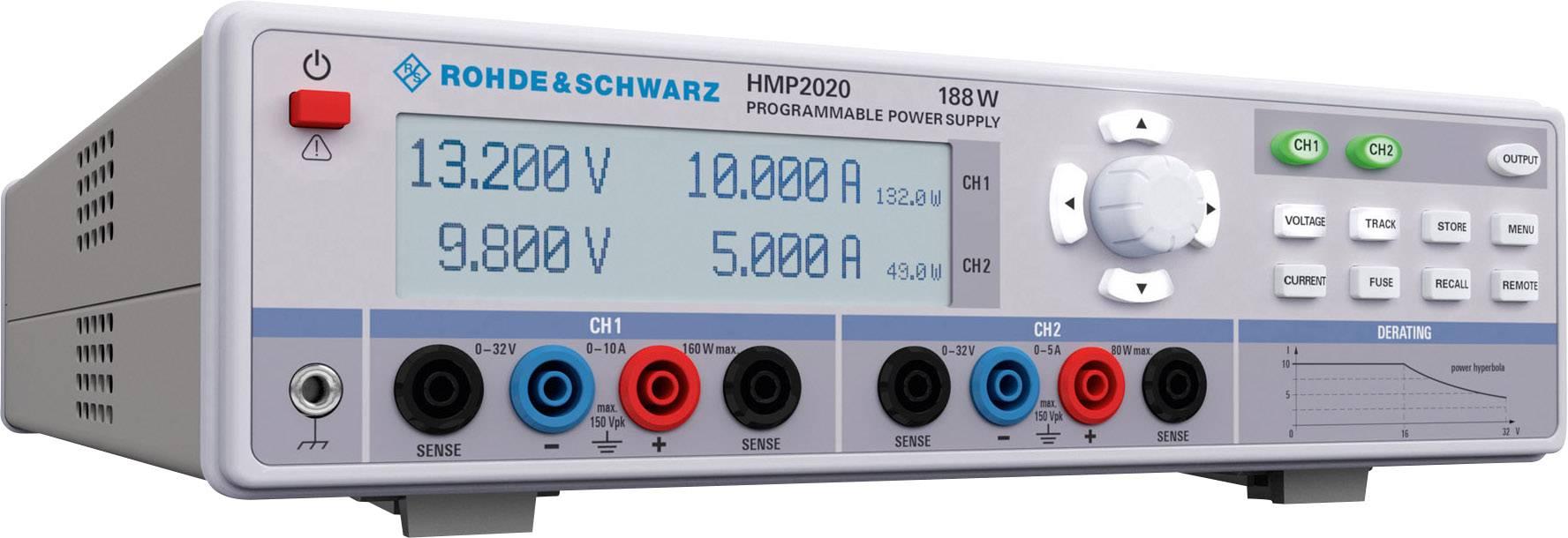 Laboratórny sieťový zdroj Hameg Instruments HMP2020, 0 - 32 V/DC, 0 - 5 A