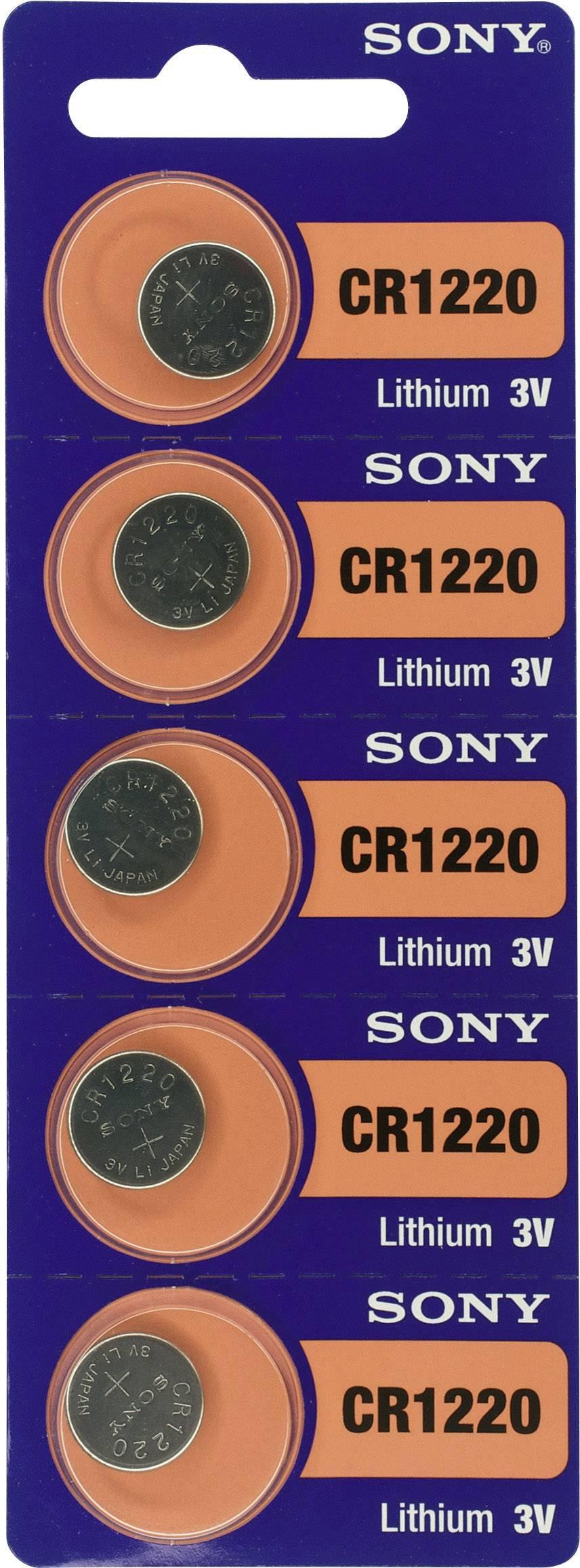 Gombíková batéria CR 1220 Sony, lítium, 5 ks
