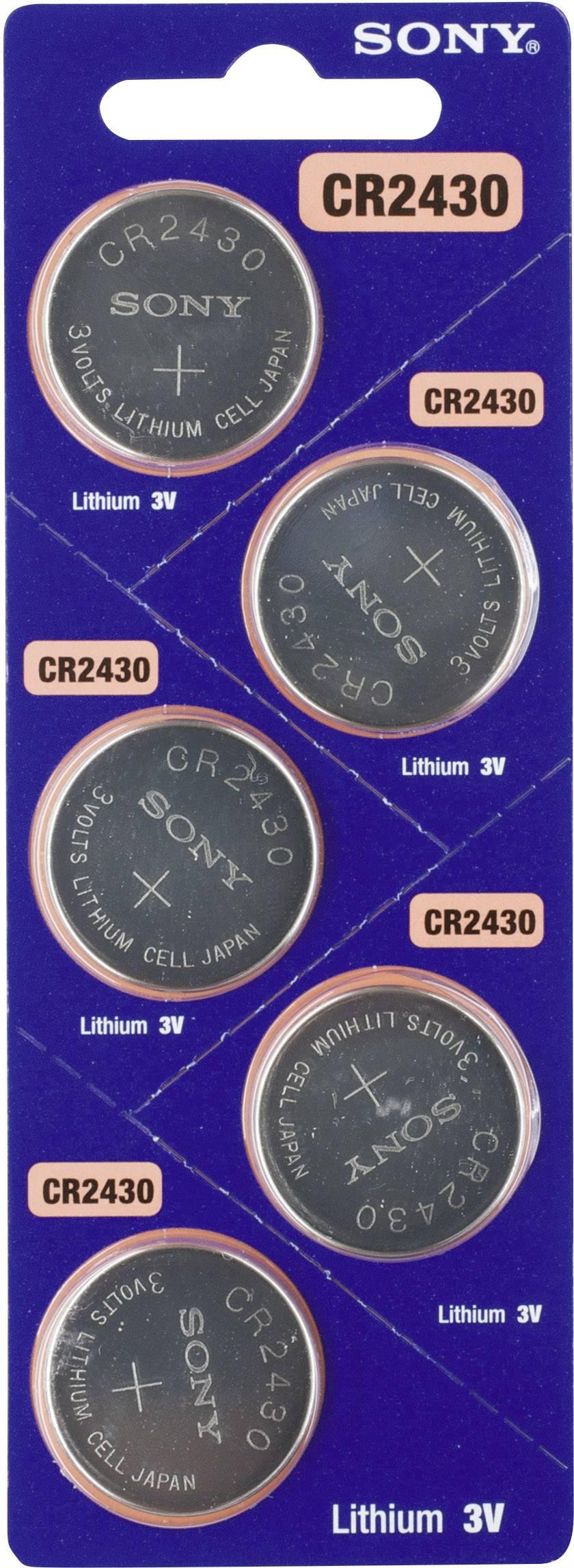 Gombíková batéria CR 2030 Sony, lítium, 5 ks