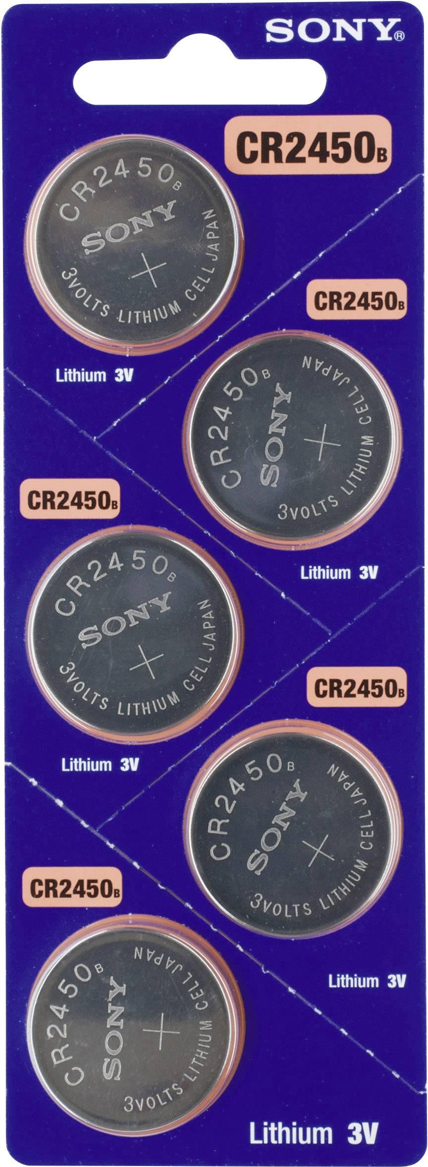 Gombíková batéria CR 2450 Sony, lítium, 5 ks