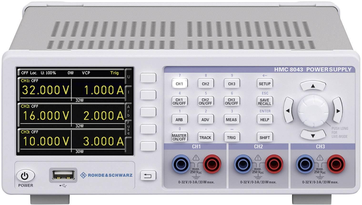 Laboratorní zdroj s nastavitelným napětím Rohde & Schwarz HMC8043, 0 - 32 V, 0 - 3 A, 100 W